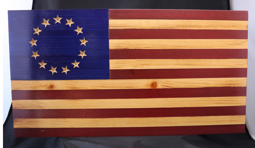 Rustic Betsy Ross 13 Colonies Flag