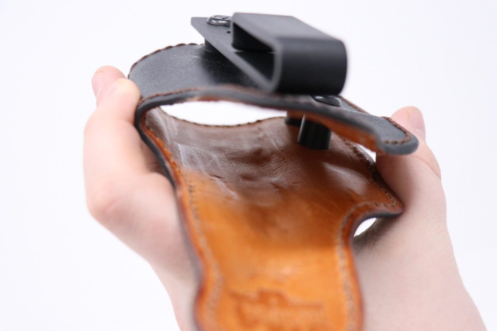 """Z8 - Product 11 - Right IWB Black Tuckable RELIC Holster for S&W MP 3.6"""" .40 Compact w/RMR"""