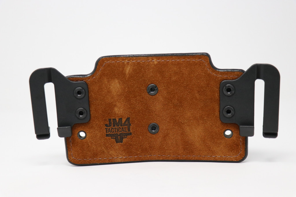 """Z8 - Product 91 - Black RELIC Belt OWB Double Mag Pouch for Colt 1911 4.5"""""""