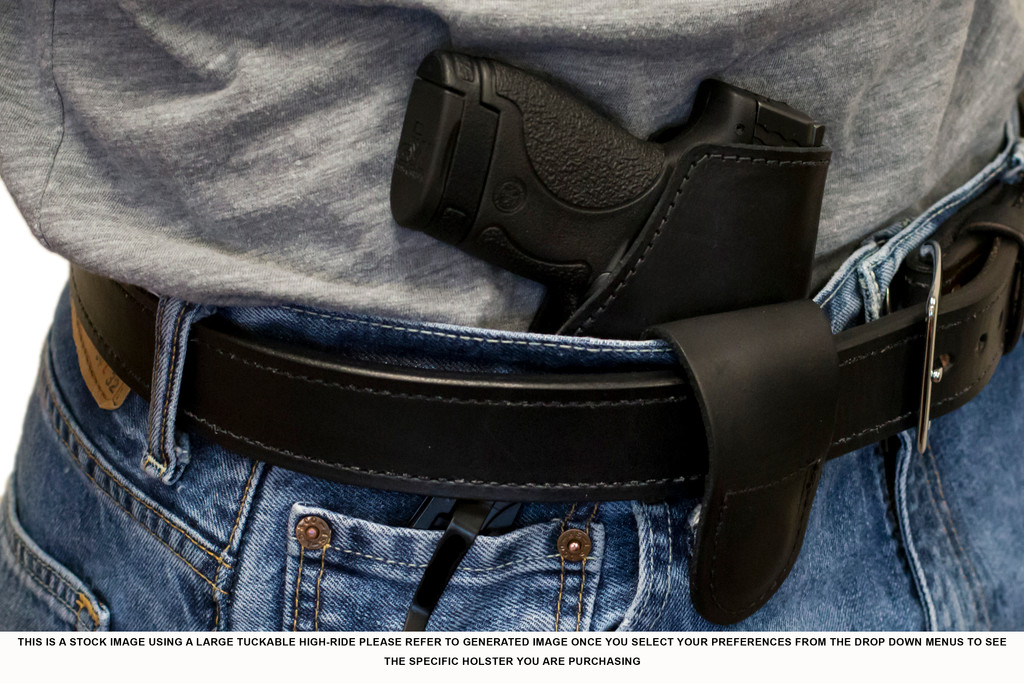 Large Long Tuckable High-Ride Magnetic Quick, Click, & Carry Holster