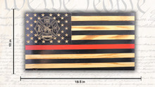Rustic Red Line American Flag