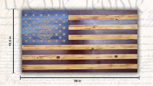 Large Rustic US Navy American Flag