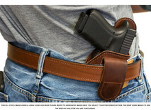 Large Long High-Ride Magnetic Quick, Click, & Carry Holster