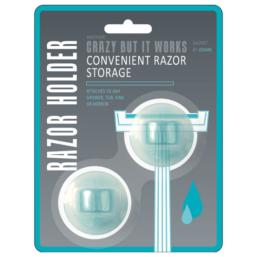 Universal razor holder fits any size razor! Great for use in the shower, tub or sink.