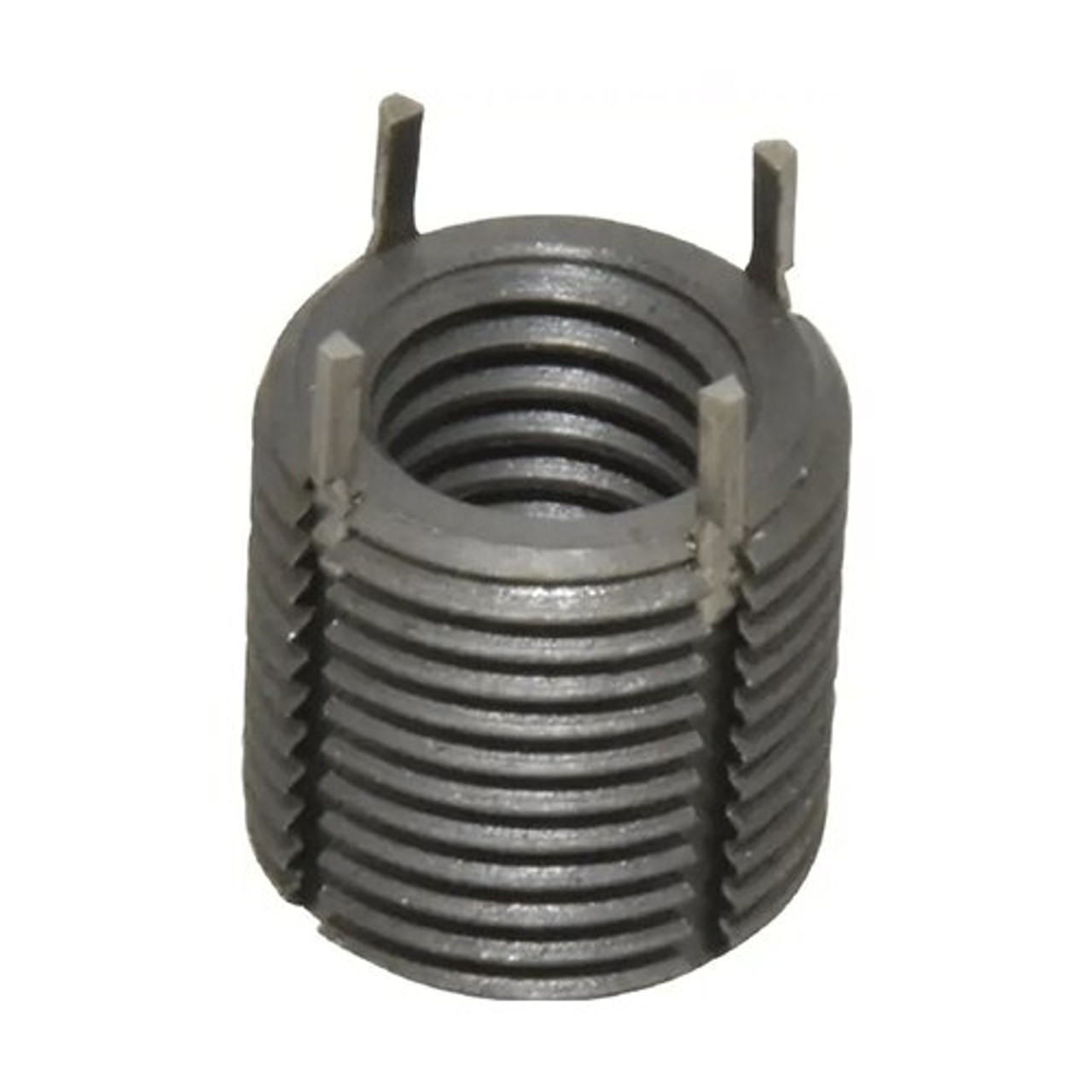 Jergens 1/4 In-20 TPI Thread Size 0.3700 In Length Carbon Steel Keylocking Threaded Insert EDP: 25922