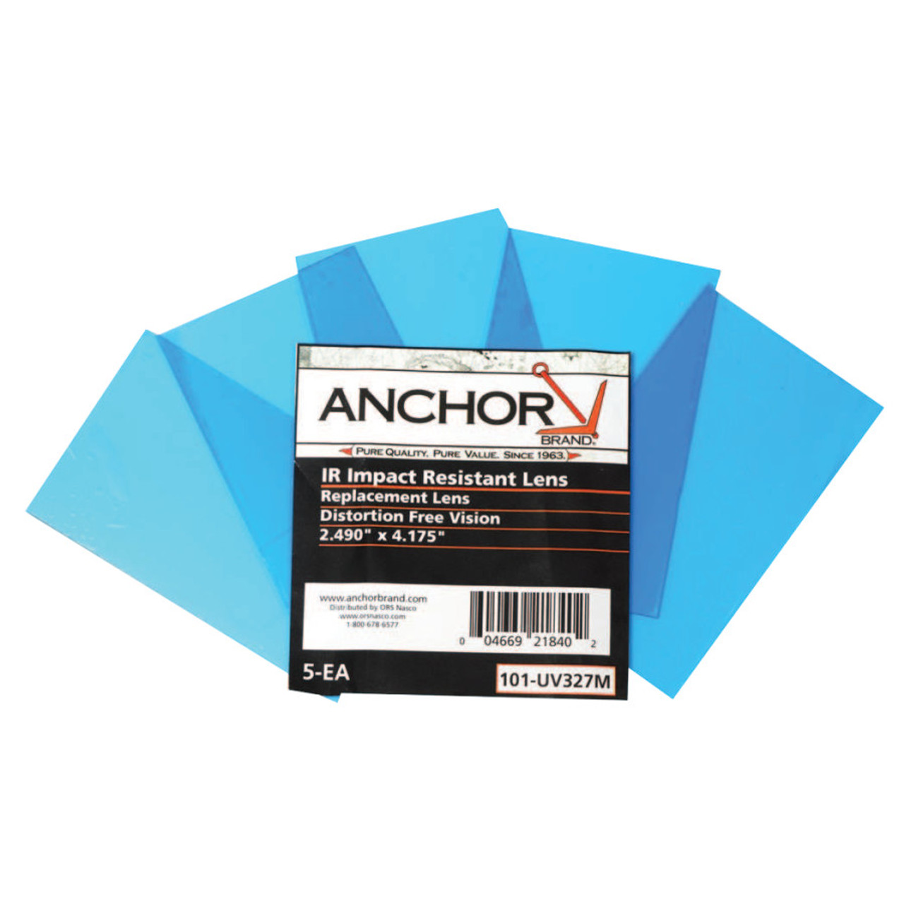 ORS Anchor Brand Inside 5-1/4 In x 4-1/2 In 100% Polycarbonate Cover Lens  EDP: 101-UV327M