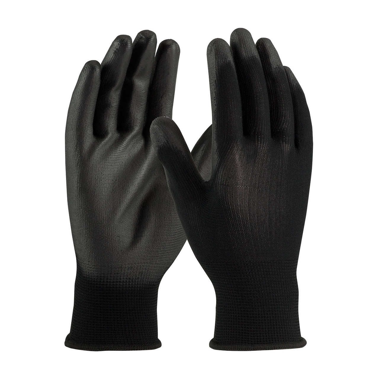 PIP Seamless Knit Polyester Glove with Polyurethane Coated Flat Grip LARGE EDP: 33-B115