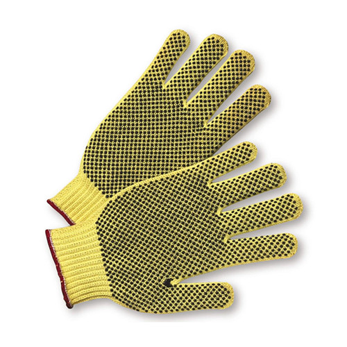PIP 35KDEBS Cotton Kevlar PVC Coated A2 ANSI Cut Resistant Gloves