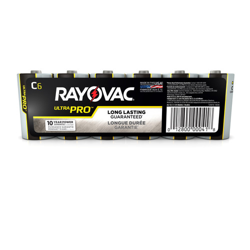 Energizer-Rayovac Rayovac Industrial Batteries - Model : AL-C Package Qty: 6 Size: C EDP: C