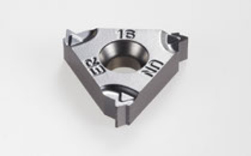 Iscar 16ERM 16 UN IC908, Threading Insert, Insert Style 16ERM, Insert Size 16, Type External, Laydown, Coating TiAlN, Length 0.63, TPI 16.0, Thread Type American UN (UN, UNC, UNF, UNEF), Thread Style Full Profile, Hand of Insert Right, Inscribed Circ