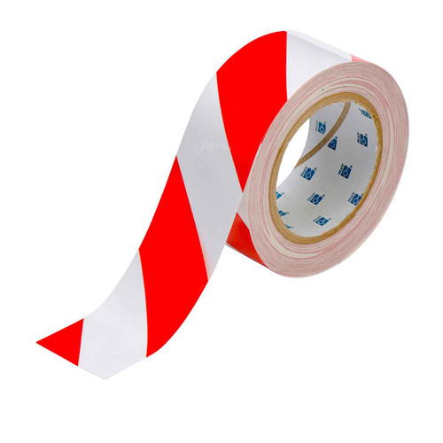 Brady Red/White Striped 2 In x 100 Ft ToughStripe Tape EDP: 104318