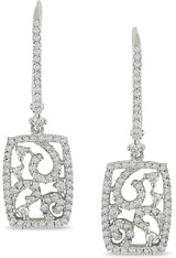3/4 Carat Carat Diamond Openwork Earrings in 14K Gold - 7500695262