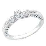 1/10 Carat Diamond Engagement Ring in Silver - 7500699147