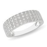 1/4 Carat Diamond Ring in Sterling Silver - 7500697129