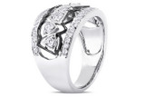 1 1/5 Carat Cubic Zirconia Sterling Silver Ring with Black Rhodium - 7500697990