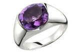 4 Carat Amethyst Ring in Silver - 7500699062