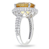 5 2/5 Carat Citrine Created White Sapphire Ring in Silver - 7500699307