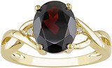 2 1/2 Carat Garnet & Diamond Ring in 10K Yellow Gold - 7500693534