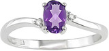 Oval Amethyst & Diamond Accent Ring in 10K White Gold - 7500692780