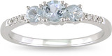 Aquamarine & Diamond Ring in 10K White Gold - 7500696269