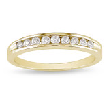 1/4 Carat Diamond Eternity Ring in 10K Yellow Gold - 7500695392