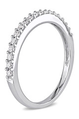 1/4 Carat Diamond 10K White Gold Stackable Ring - 7500703776