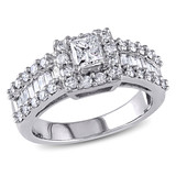 1 1/3 Carat Diamond 14K White Gold Bridal Engagement Ring - 7500692452