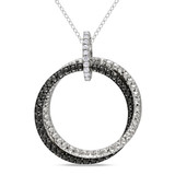 Diamond Fashion Pendant with Chain in Sterling Silver - 7500080449