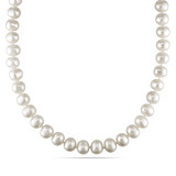 Freshwater White Pearl Necklace in 14k White Gold - 7500080599