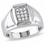 1/10 Carat Diamond Fashion Ring in Sterling Silver - 7500080743