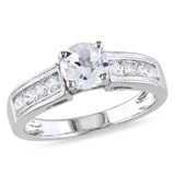 1 1/2 Carat Created White Sapphire Fashion Ring in Sterling Silver - 7500080830