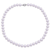 9-10mm Freshwater Pearl Necklace in Silver - 7500499455