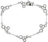 1 1/2 Carat Diamond Circle Bracelet in 18K White Gold - 7500081696