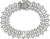 4/5 Carat Diamond Twin-Strand Bracelet in 18K White Gold - 7500081694