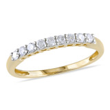 0.25 Carat Diamond Anniversary Ring in 10K Yellow Gold - 7500081495