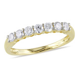 1/2 Carat Diamond Anniversary Ring in 10K Yellow Gold - 7500081490