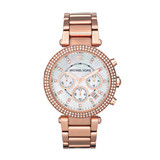 Women's Parker Chrono Watch Rose Gold Tone - MK5491