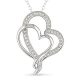 0.25 Carat Diamond Heart Pendant in Sterling Silver - 7500082134