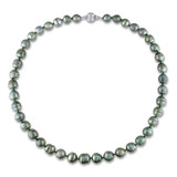 Tahitian Black Pearl Necklace in 14K White Gold - 7500082435