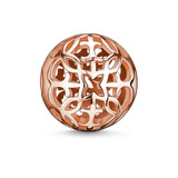 Rose Gold Plated Arabesque 11mm Karma Bead - K0011-415-12