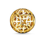 Ylw Gold Plated Arabesque 11mm Karma Bead - K0056-413-12