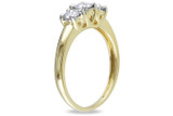 1/2 CT Diamond TW 3 Stone Ring 14k Yellow Gold GH I2;I3 IGL Certification - 7500040082
