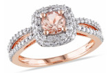 1/2 CT Diamond TW And 1/2 CT TGW Morganite Ring 14k Pink Gold GH I1;I2 - 7500040154