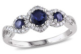 1/8 CT Diamond TW And 2/5 CT TGW Sapphire Ring 10k White Gold GH I2;I3 - 7500040186