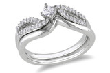 1/4 CT Diamond TW Bridal Set Ring Silver GH I2;I3 - 7500040068