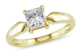 1 CT Princess Diamond TW Solitaire Ring 14k Yellow Gold I2;I3 - 7500040091