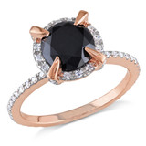 2 CT Black and White Diamond TW Fashion Ring 10k Pink Gold GH I2;I3 - 7500040449