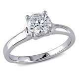 1 CT Diamond TW Solitaire Ring 14k White Gold GH I1;I2 IGL Certification - 7500043240