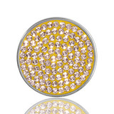 Swarovski Yellow Silver Plated 23mm Coin - C1168SS