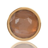 Carnelian Brazil Gold Plated 23mm Coin - C1324GS